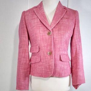 TALBOTS Petites Pink Short Blazer Size 2P